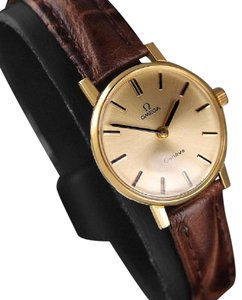 Omega 1977 Omega Geneve Vintage Ladies Watch - 18K Gold Plated & Stainless S