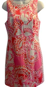 Lilly Pulitzer short dress pink, white, red, and yellow Mila on Tradesy