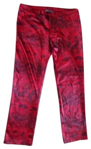Betsey Johnson Python Skinny Pants red