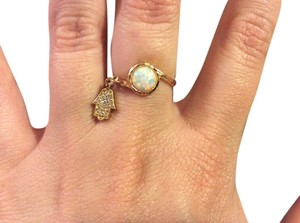 unknown Opal Hamsa Ring