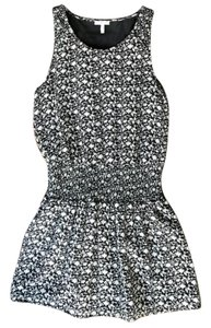 Joie short dress Black/white Silk Printed on Tradesy