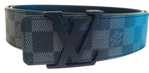 Louis Vuitton Size 105/42 Like New Louis Vuitton Initiales Belt Damier Graphite
