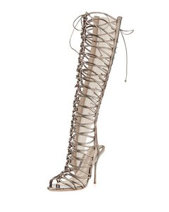 Sophia Webster Gunmetal Sandals