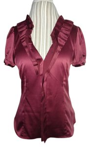 BCBGMAXAZRIA Top Deep red