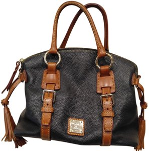 Dooney & Bourke Satchel in Black and Tan