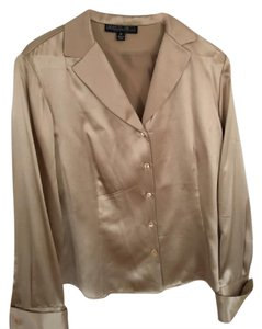 Lafayette 148 New York Top Gold/beige