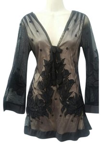 Yoana Baraschi short dress black Nude Lace Overlay Embroidered Limited Edition on Tradesy