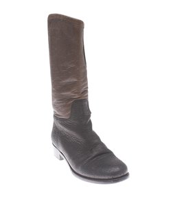 Chanel Leather Black & Brown Black,Brown Boots