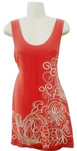 Anthropologie short dress Copper Limited Edition Embroidered Tank Yoana Baraschi on Tradesy