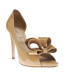 Valentino Patent Leather Beige Pumps