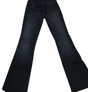 7 For All Mankind A-pocket Flare Leg Jeans-Dark Rinse