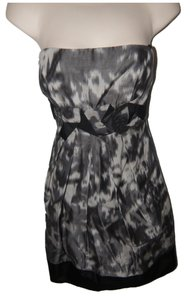BCBGMAXAZRIA Party Empire Waist Black Strapless Dress