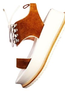 Matisse Kate Bosworth Leather Suede Hidden Fawn Platforms