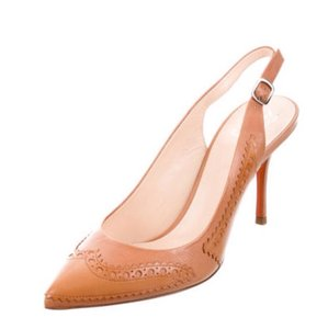 Santoni Nude/Tan Pumps