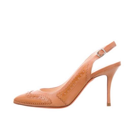 Santoni Nude/Tan Pumps Image 1