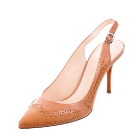 Santoni Nude/Tan Pumps Image 2
