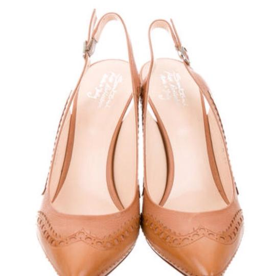 Santoni Nude/Tan Pumps Image 5