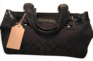 Coach Signature Soho Tote in Black