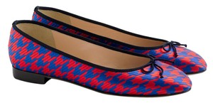 J.Crew Kiki Houndstooth Red Blue Flats