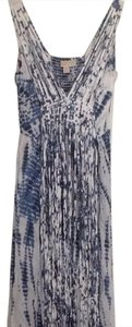 blue and white tie dye look Maxi Dress by Michael Kors