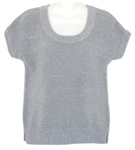 Banana Republic Metallic Silver Sweater