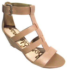 Sam Edelman Neutral Beige Leather Spring Nude Sandals
