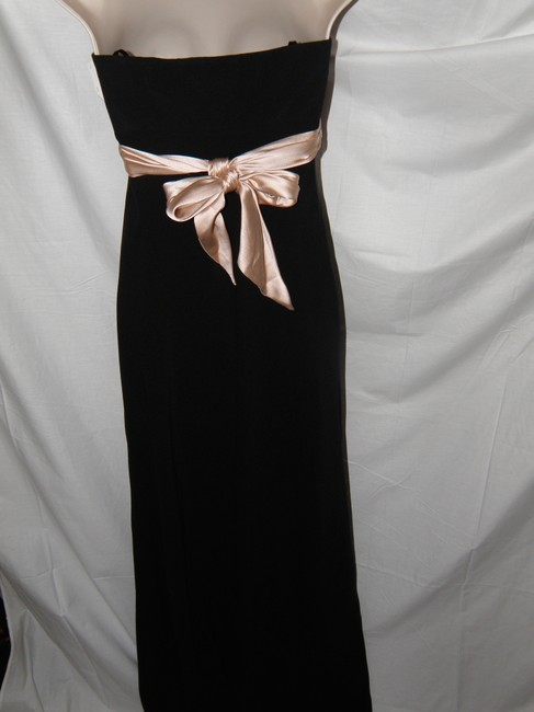 Nicole Miller Pink Satin Tie Empire Waist Strapless Cocktail Flormal Prom Womens Party Dress