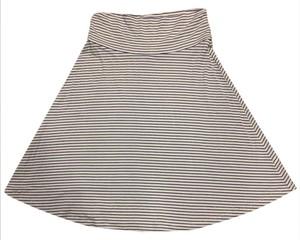 Gap Comfortable Foldover Skirt White with blue stripes