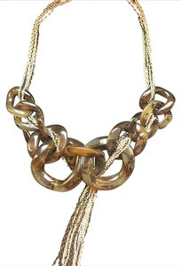 Adia Kibur Mixed Metal Statement Necklace