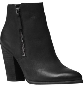 Michael Kors Leather Denver Black Boots