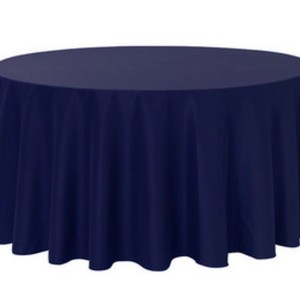 "2-120"" Polyester Round Tablecloths Navy Blue"