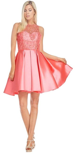 Preload https://item1.tradesy.com/images/ag-studio-coral-md1637s-short-cocktail-dress-size-4-s-20818910-0-1.jpg?width=400&height=650