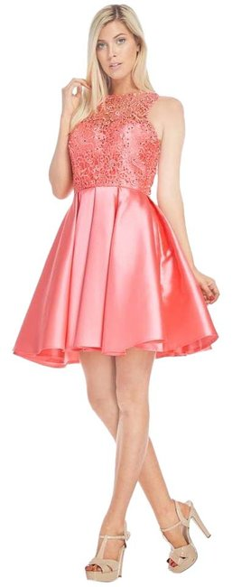 Preload https://item4.tradesy.com/images/ag-studio-coral-md1637s-short-cocktail-dress-size-8-m-20818918-0-1.jpg?width=400&height=650
