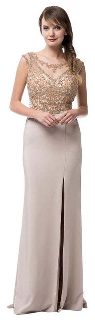 Preload https://item5.tradesy.com/images/ag-studio-taupe-gold-mg1733-long-formal-dress-size-10-m-20818944-0-1.jpg?width=400&height=650