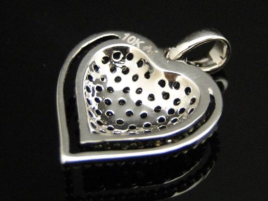 Other White Gold Brown Cognac Diamond Pave Heart Love Pendant Charm 1/2 Ct