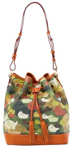 Dooney & Bourke Canvass Leather Drawstring Shoulder Bag