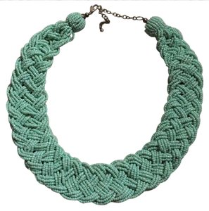 Charming Charlie green beaded necklace