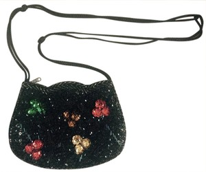 Other Sequin Vintage Purse Flowers Cross Body Bag