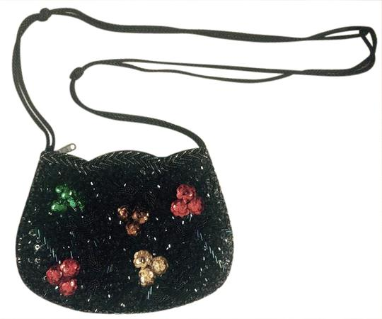 Preload https://item3.tradesy.com/images/vintage-purse-with-colored-flowers-black-red-green-yellow-brown-sequin-cross-body-bag-20819152-0-2.jpg?width=440&height=440