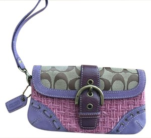 Coach Wristlet in Pink and purple
