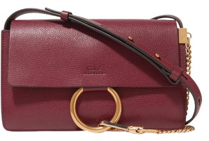 Chloé Chloe Faye Small Faye Textured Leather Shoulder Bag