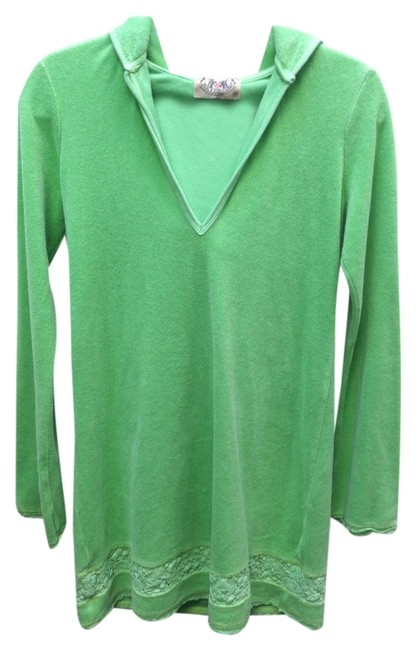 Item - Bright Green Terrycloth Hoody Cover-up/Sarong Size 8 (M)