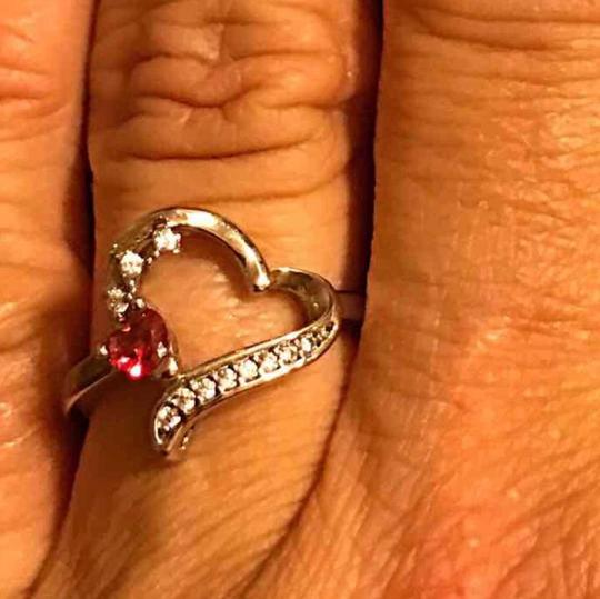 Preload https://item5.tradesy.com/images/red-925-sterling-silver-plated-heart-shape-ring-20819379-0-1.jpg?width=440&height=440