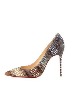 Christian Louboutin Decollete Watersnake Snake Degrade Beige, Brown, Grey, Cream Pumps