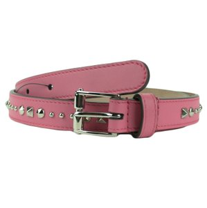 Gucci GUCCI 380561 Women's Pink Studded Leather Belt 80-32
