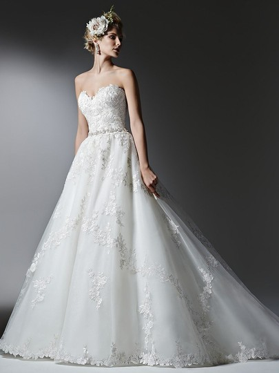 Sottero and Midgley Ivory Lace Tulle Alandra Formal Wedding Dress Size 22 (Plus 2x)