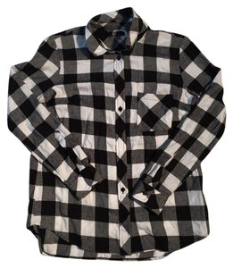 KUT from the Kloth Button Down Shirt Black, White