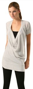 Joie Metallic Cowl Lightweight Short Sleeves Sweater