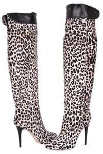 Jimmy Choo Knee High Leopard Multi-Color Boots