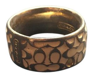 Coach Enamel Signature CC Ring